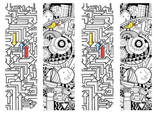 Doodle Bookmarks 4toapage-1